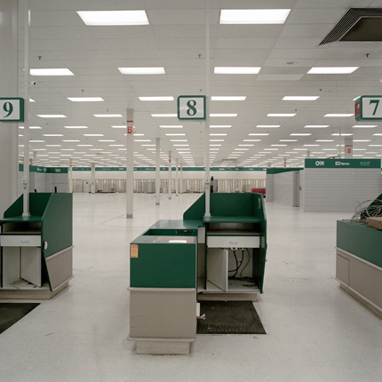 Closing of Ames Store, Hudson, New York, 2002 38 x 38 inches edition of 10 archival pigment print