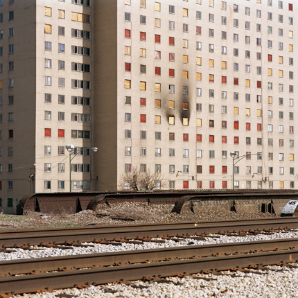 Robert Taylor Homes (Since Demolished), Chicago, Illinois, 2002 38 x 38 inches edition of 10 archival pigment print
