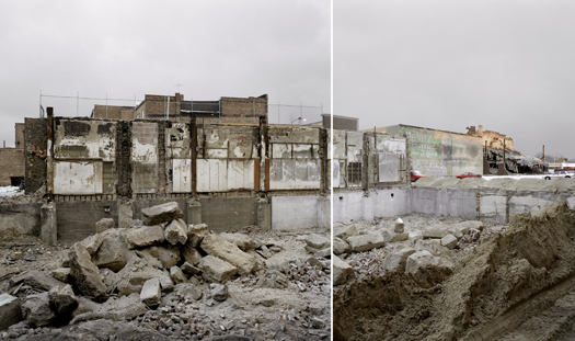 Excavation and Demolition in Former Central Business District, Gary, Indiana, 2000 24 x 34 inches edition of 7 archival pigment print