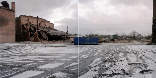 Cleared Lot in Former Central Business District Along Broadway, Gary Indiana, 2000 24 x 38 inches edition of 7 archival pigment print