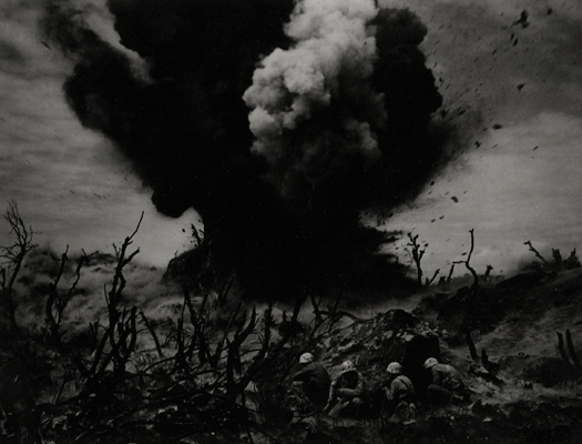 Sticks and Stones, c.1944-45 from  World War II Essays, Life Magazine  8 x 10 inches silver print