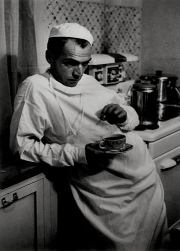 Doctor with Coffee Cup, 1948 from  Country Doctor, Life Magazine  10 x 8 inches vintage silver print