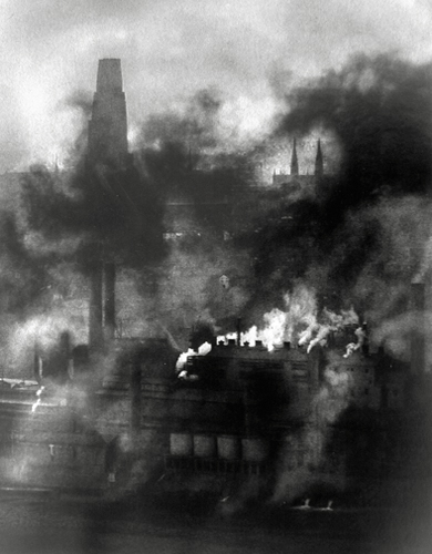 Smoky City, Pittsburgh, 1955 22.5 x 17.5 inches vintage silver print
