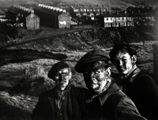 Welsh Miners, Wales, 1950 from  Great Britain, Life Magazine  (unpublished) 10 x 13 inches silver print
