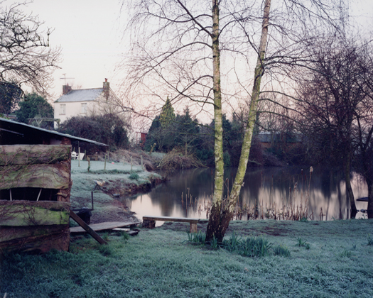 15 February 2001 from the series  Upton Pyne  27 x 34 inches edition of 8 chromogenic dye coupler print