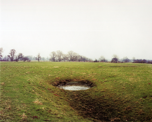 Brampford Speke, 1998 from the series  Dew Ponds  31.5 x 40 inches edition of 8 chromogenic dye coupler print
