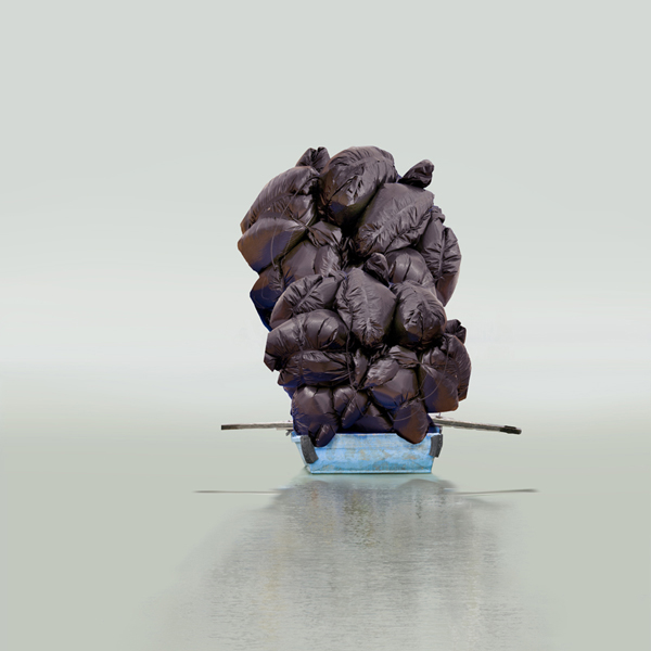 Floating a Boulder, 2012 all-inclusive edition of 5 30 x 30 inches 40 x 40 inches chromogenic dye coupler print