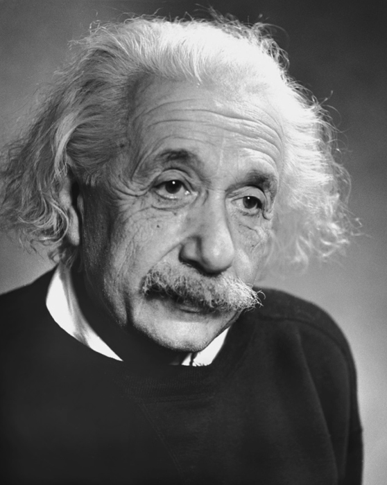 Albert Einstein, 1946  9.5 x 7.5 inches vintage silver print