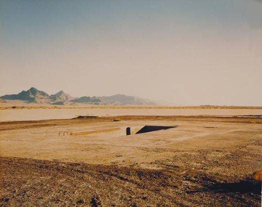 Atomic Bomb Pit, Wendover Air Base, 1990  chromogenic dye coupler print 20 x 24 inches