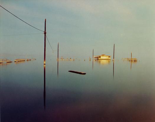 Flooded Snack Bar, Salton Sea, 1984  chromogenic dye coupler print 20 x 24 inches