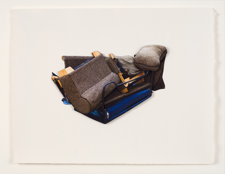 Couch #1, 2013 8.5 x 11 inches unique photo-based construction