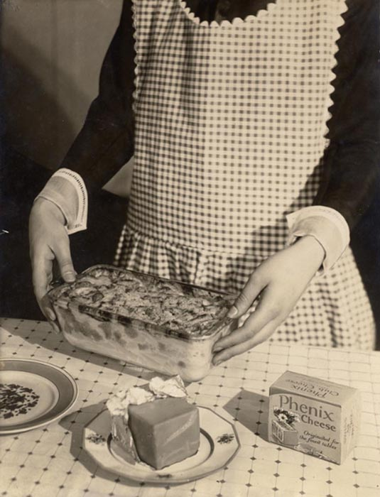 Phenix Cheese (with apron & hands), 1924  vintage platinum/palladium print 8.5 x 6.5 inches