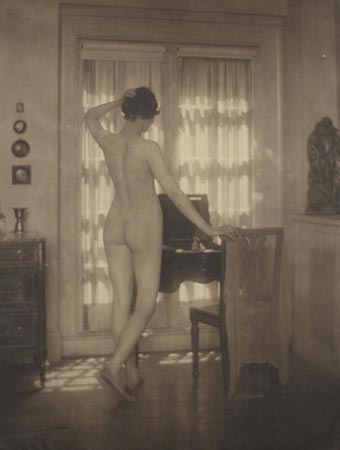 Nude at Window, Pearl Regay, 1924  vintage platinum/palladium print 8 x 6 inches