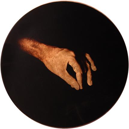 Estudio de la Anunciación de Murillo, 2006 (in collaboration with Graciela de Oliveira) Panel 3: 30 inches in diameter detail view of triptych archival pigment print