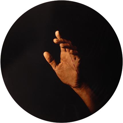 Estudio de la Anunciación de del Sarto, 2006 (in collaboration with Graciela de Oliveira) Panel 3: 30 inches in diameter detail view of triptych archival pigment print