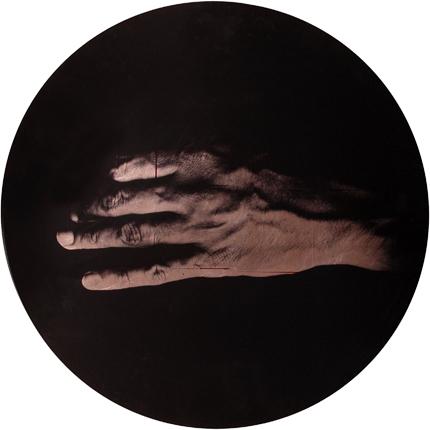 Estudio de la Anunciación de Champaigne, 2006 (in collaboration with Graciela de Oliveira) Panel 3: 30 inches in diameter detail view of triptych archival pigment print
