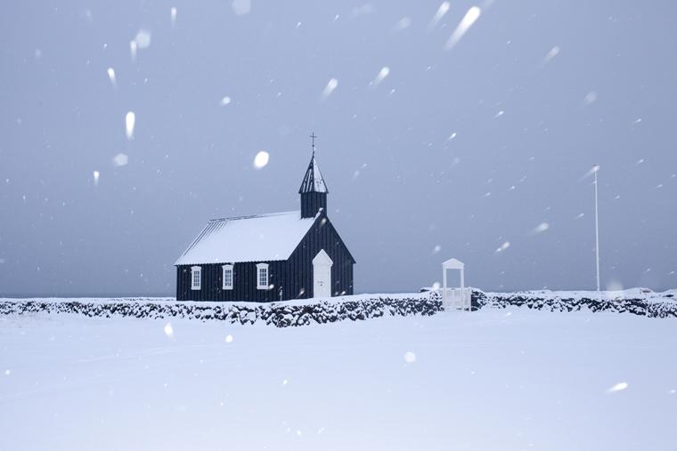Black Church, Búðir, 2012 from the series  Ísland  24 x 35.5 inches / 60 x 90 cm (edition of 8) 29.5 x 43.5 inches / 75 x 110 cm (edition of 8) archival pigment print