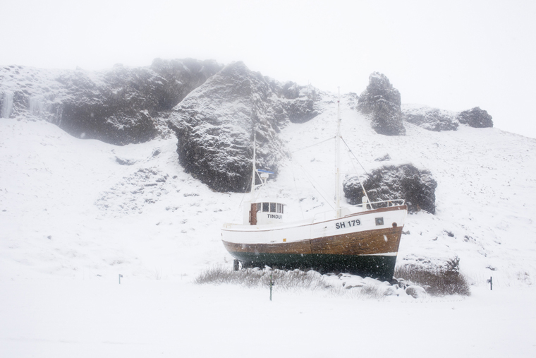 Boat, Snaefellsnes, 2011 from the series  Ísland  24 x 35.5 inches / 60 x 90 cm (edition of 8) 29.5 x 43.5 inches / 75 x 110 cm (edition of 8) archival pigment print