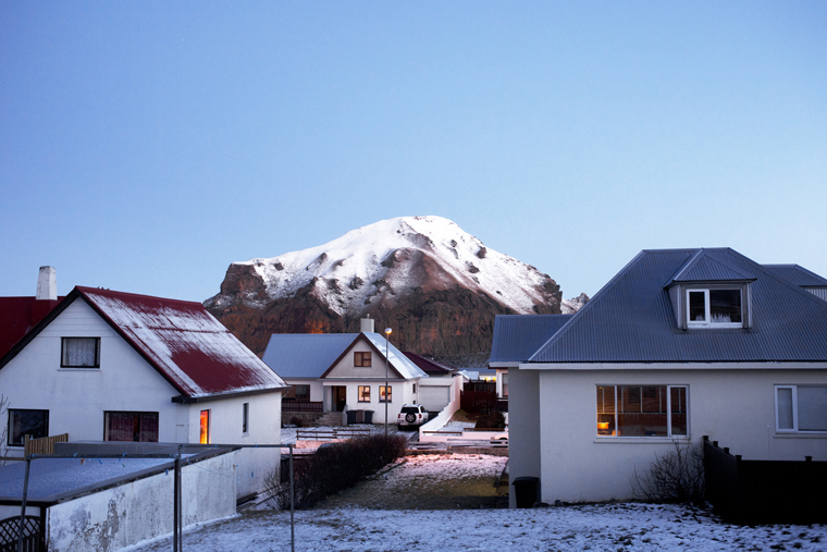 Heimaey by Night, Vestmannaeyjar, 2012 from the series  Ísland  24 x 35.5 inches / 60 x 90 cm (edition of 8) 29.5 x 43.5 inches / 75 x 110 cm (edition of 8) archival pigment print