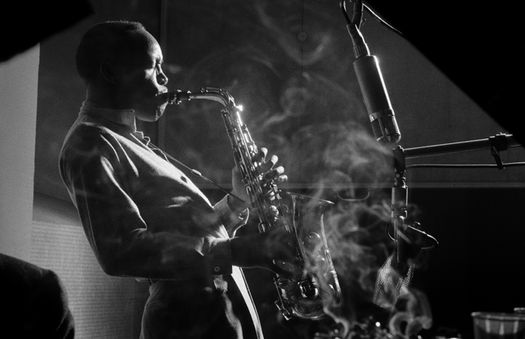 Sonny Stitt, NYC, 1953 silver print 16 x 20 inches from a limited edition of 50