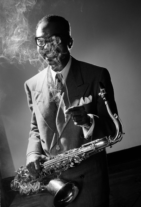 James Moody, NYC, 1951 silver print 20 x 16 inches from a limited edition of 30