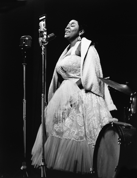 Dinah Washington, Newport, 1955 silver print 20 x 16 inches from a limited edition of 30