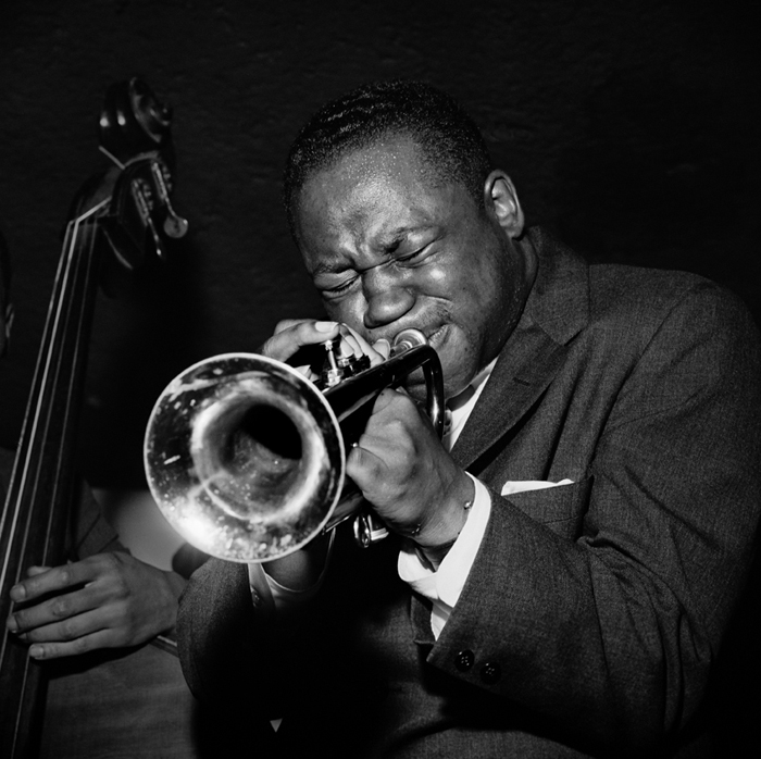 Clifford Brown, NYC, 1954 silver print 20 x 16 inches from a limited edition of 30