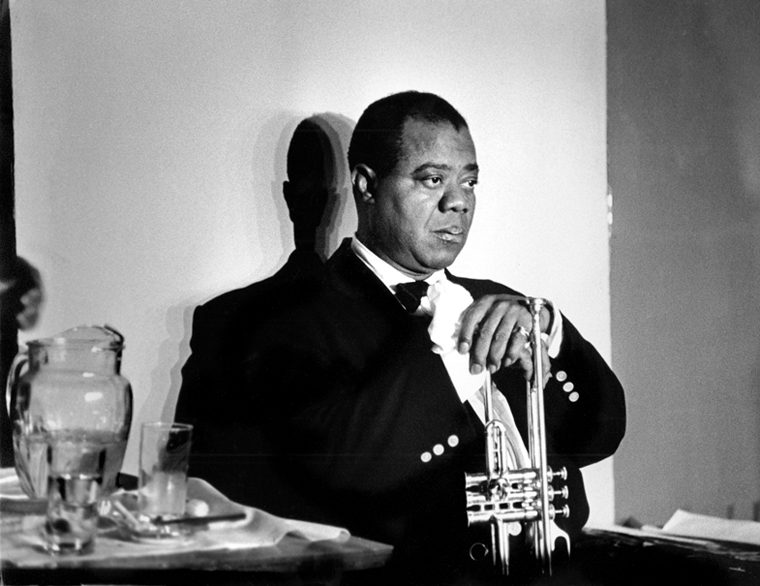 Louis Armstrong, Paris, 1960 silver print 16 x 20 inches from a limited edition of 30