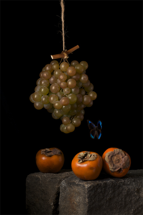 Persimmons, after A. C., 2009 from the series  Natura Morta  20 x 16 inches (edition of 15) 30 x 20 inches (edition of 7) 48 x 32 inches (edition of 5) archival pigment print