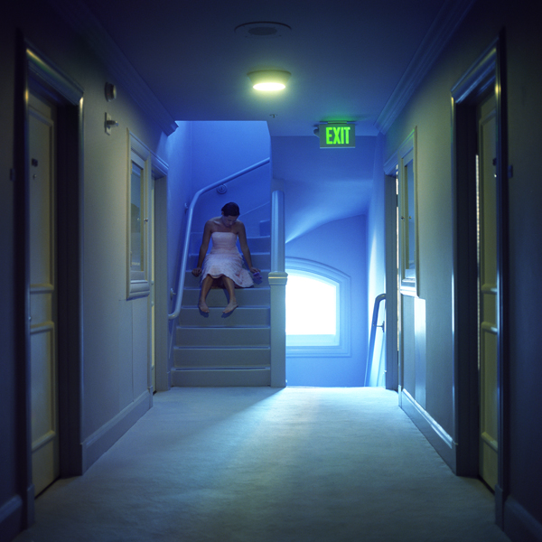 Exit, Self Portrait, San Francisco, California, 2005 from the series  You Look At Me Like An Emergency  14 x 14 inches (edition of 10) 28 x 28 inches (edition of 7) 40 x 40 inches (edition of 5) chromogenic dye coupler print