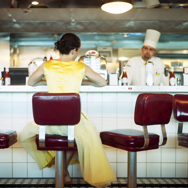 The Diner, Self Portrait, Miami, Florida, 2005 from the series  You Look At Me Like An Emergency  14 x 14 inches (edition of 10) 28 x 28 inches (edition of 7) 40 x 40 inches (edition of 5) chromogenic dye coupler print