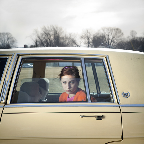 The Pale Yellow Cadillac, Sadie, Portland, Maine, 2010 from the series  You Look At Me Like An Emergency  40 x 40 inches (edition of 5) chromogenic dye coupler print