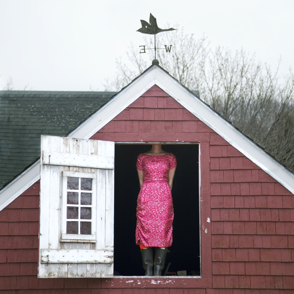 The Weathervane, Self Portrait, Rockport, Maine, 2010 from the series  You Look At Me Like An Emergency  14 x 14 inches (edition of 10) 28 x 28 inches (edition of 5) 40 x 40 inches (edition of 7) chromogenic dye coupler print