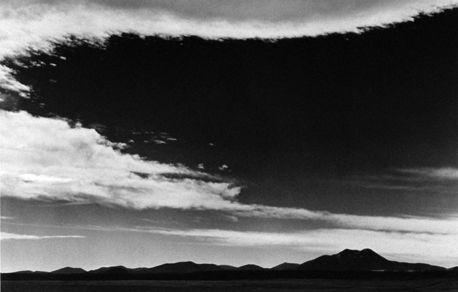 Approaching Storm Near Flagstaff, Arizona, c.1936 vintage silver print 16 x 20 inches