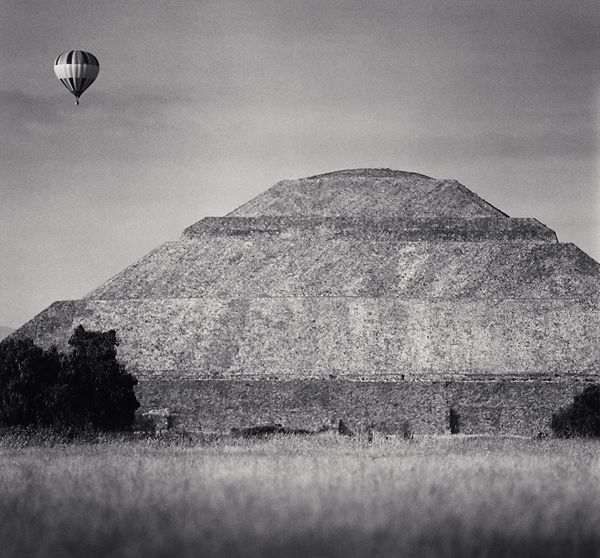 Balloon and Pyramid of the Sun, Teotihuacan, 2006 7.5 x 8.25 inches edition of 45 toned silver print