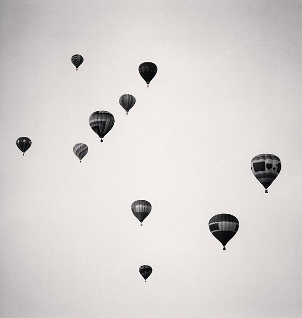 Ten Balloons, Albuquerque, New Mexico, USA, 1993 8.25 x 7.75 inches edition of 45 toned silver print