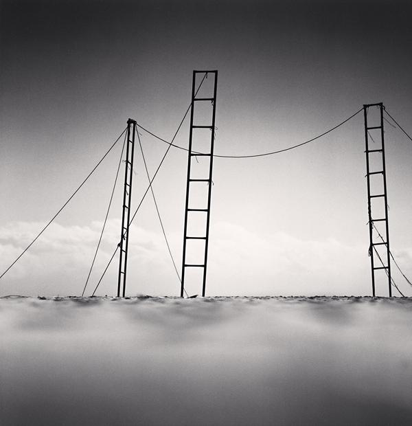 Three Ladders, Sampo Beach, Gangwondo, Korea, 2006 7.8 x 7.5 inches edition of 45 toned silver print