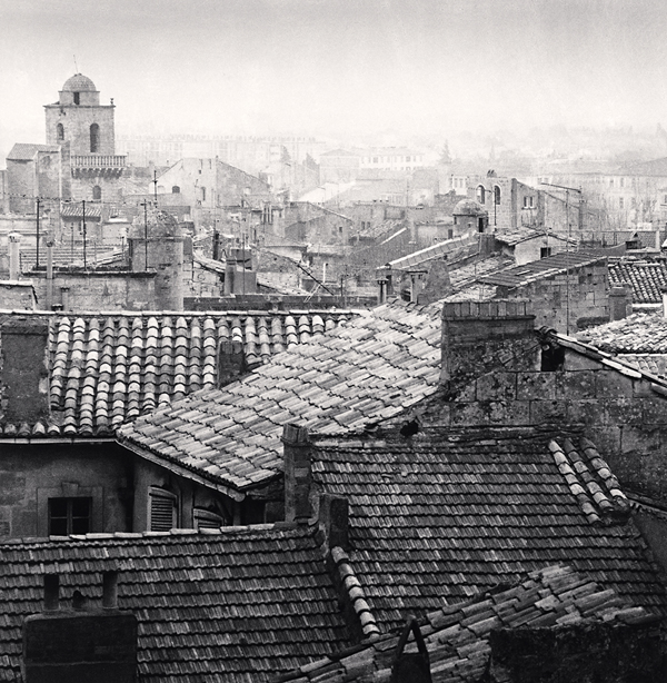 Rooftop View, Arles, 1987 8 x 7.75 inches edition of 45 toned silver print