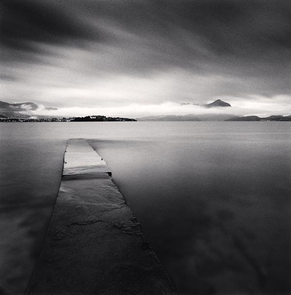 Evening Walk, Isola dei Pescatori, Lake Maggiore, Italy, 2008 7.75 x 7.5 inches edition of 45 toned silver print