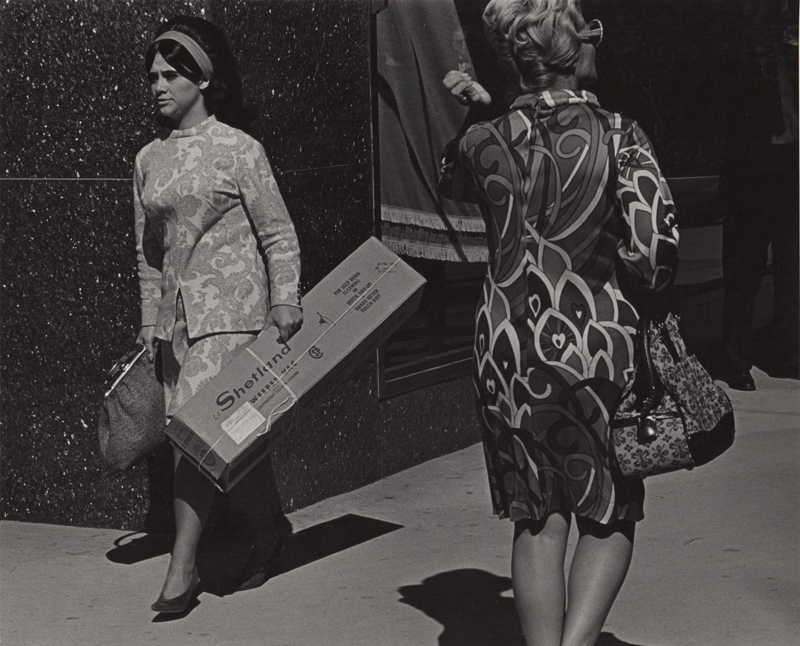 Untitled (Woman with Shetland box) , 1960's  Vintage silver print  8 x 10 inches