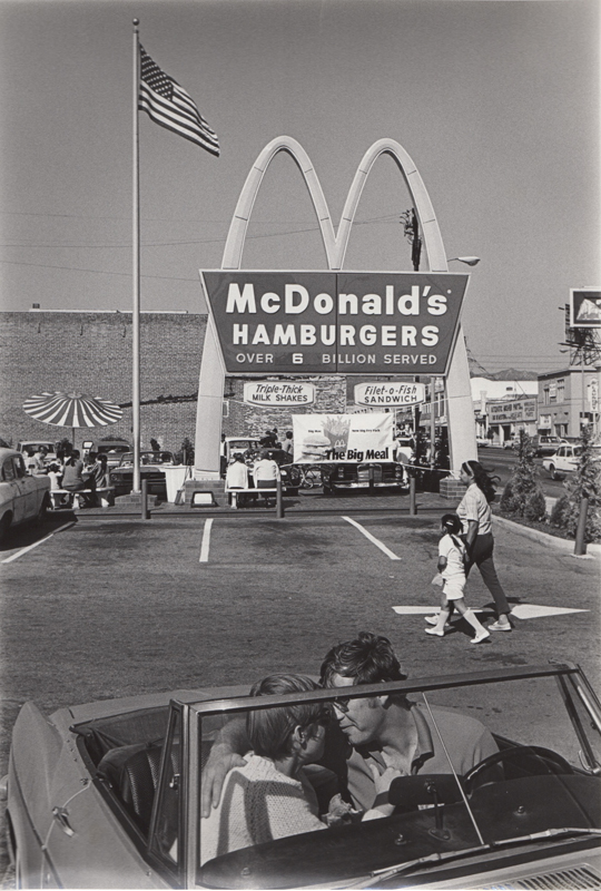 Untitled (two people in a car at McDonald's), CA , c. 1970's  Vintage silver print  10 x 8 inches