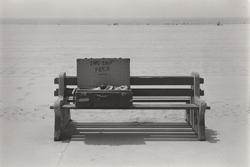 Untitled (This shit free) , 1972  Vintage silver print  8 x 10 inches