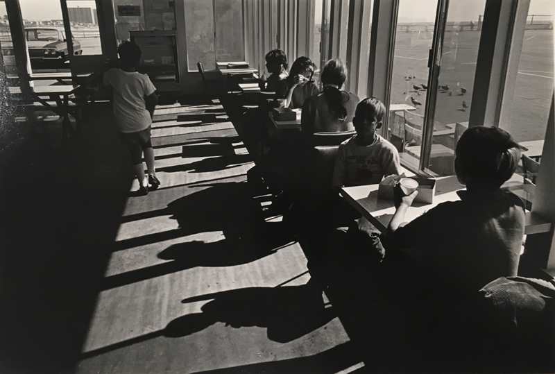 Untitled (lunchtime shadows)   Vintage silver print mounted to board  6.25 x 9.5 inches