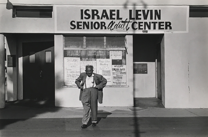 Untitled (Israel Levin Senior Adult Center)   Vintage silver print mounted to board  6.25 x 9.5 inches