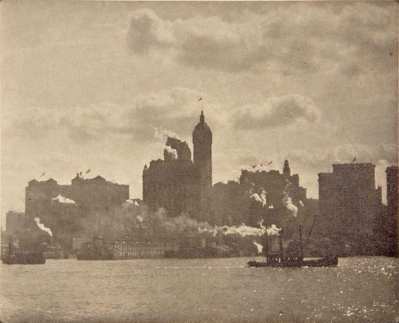 Alfred Stieglitz    Lower Manhattan , 1910  Photogravure  6.25 x 7.75 inches  Published in Camera Work Vol. 36:27, January 1913