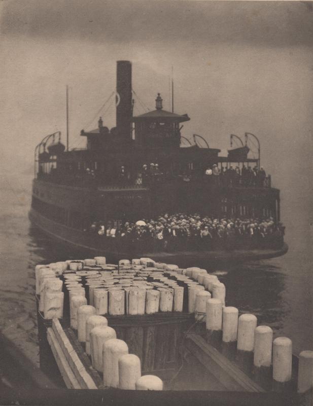 Alfred Stieglitz    The Ferry Boat (1910) , 1911  Photogravure  8 x 6.5 inches  Published in Camera Work Vol. 36, 1911