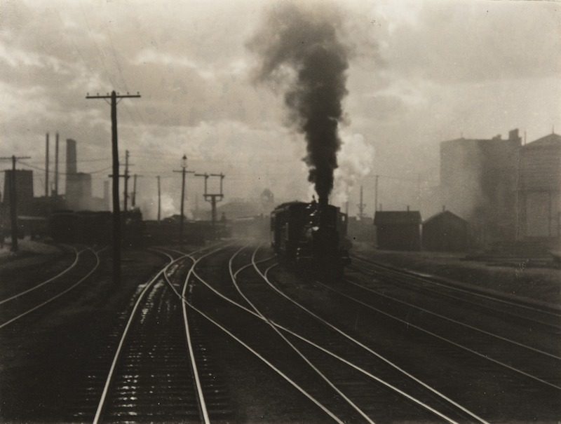 Alfred Stieglitz    The Hand of Man , 1902  Photogravure  6.25 x 8.5 inches  Published in Camera Work Vol. 36:57, October 1911