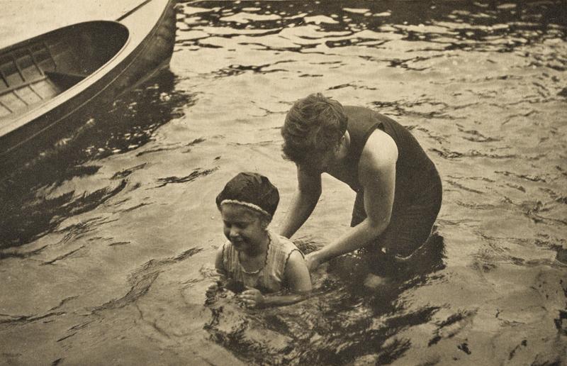 Alfred Stieglitz    The Swimming Lesson (1906) , 1911  Photogravure  5.75 x 9 inches  Published in Camera Work Vol. 36, 1911