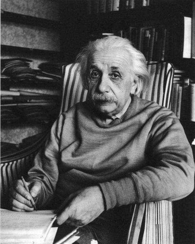 Alfred Eisenstaedt    Albert Einstein, Princeton, New Jersey , 1949  Silver print  14 x 11 inches  Edition of 250