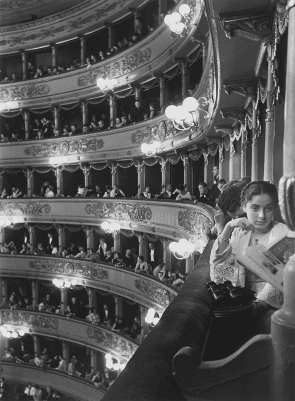 Alfred Eisenstaedt    Premiere at La Scala, Milan , 1933  Silver print  20 x 16 inches  Edition of 250